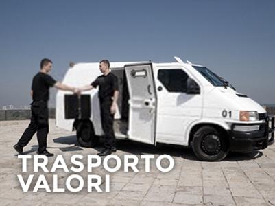 Servizio di trasporto e scorta valori